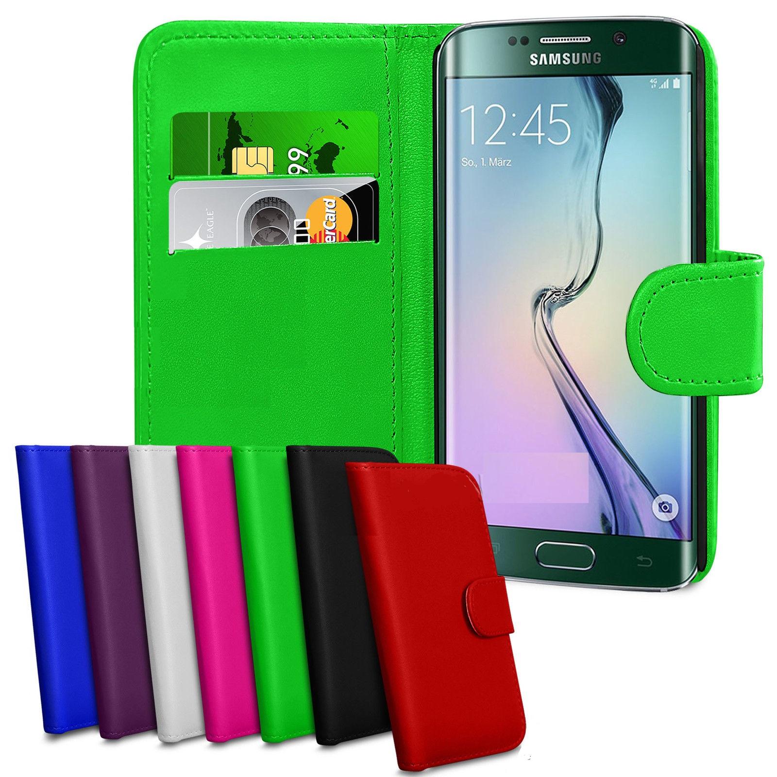 Kožený obal Samsung Galaxy S6 Edge + fólia (knižný) b354293e16b