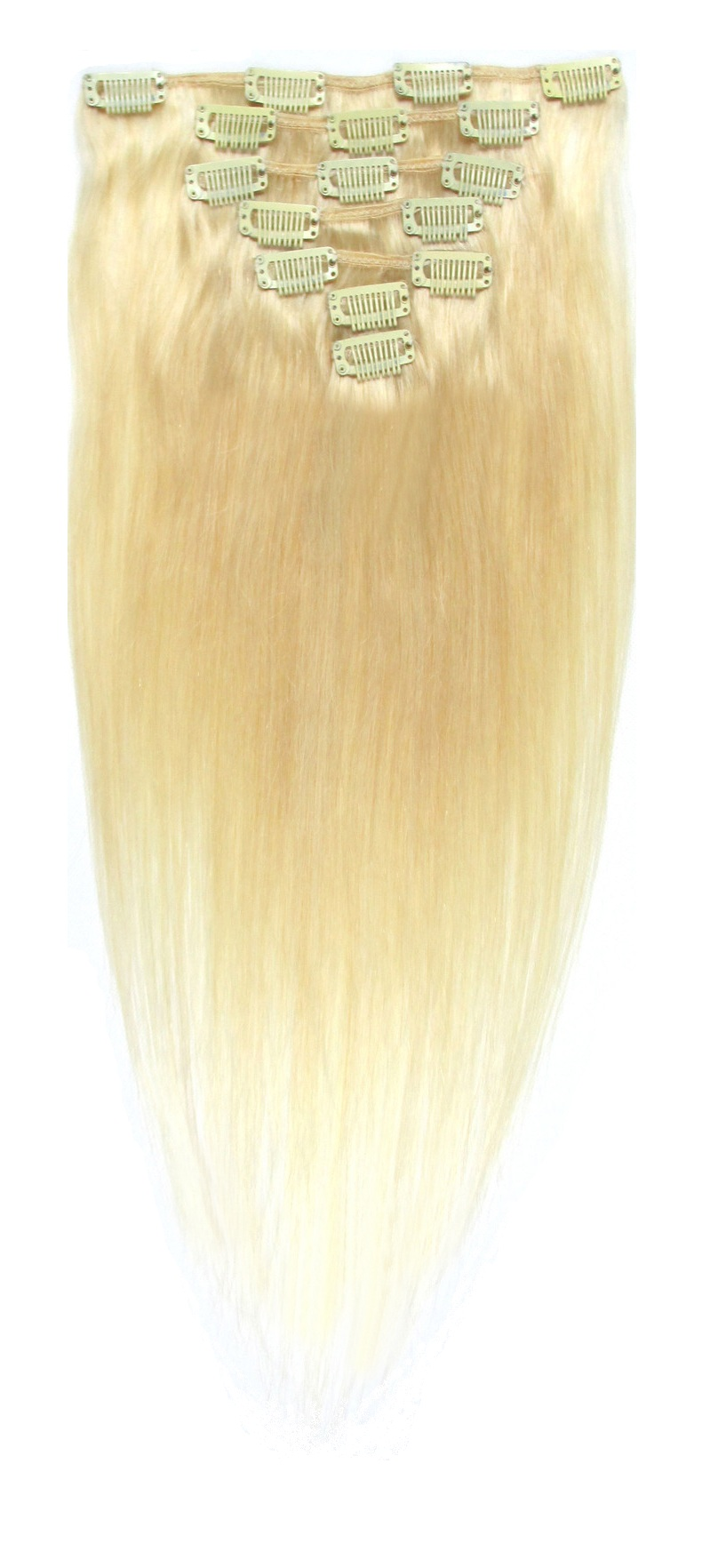 Clip in vlasy -  BLOND 50cm